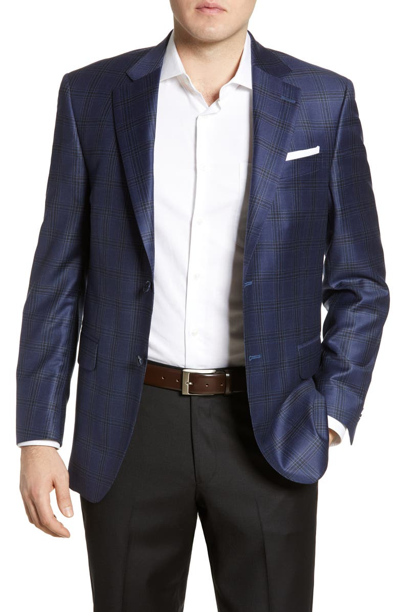 PETER MILLAR Flynn Classic Fit Plaid Wool Sport Coat, Main, color, 400