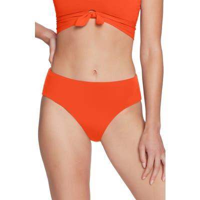 Robin Piccone Ava High Waist Bikini Bottoms, Orange