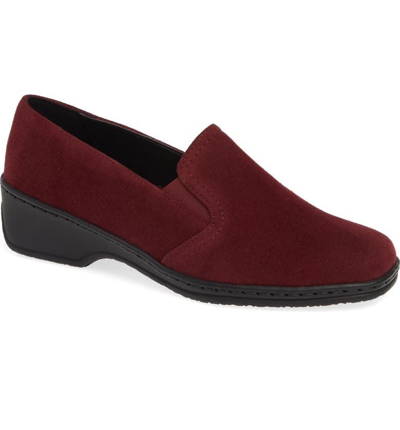ARA Rabina Wedge Loafer, Main, color, BRUNELLO SUEDE
