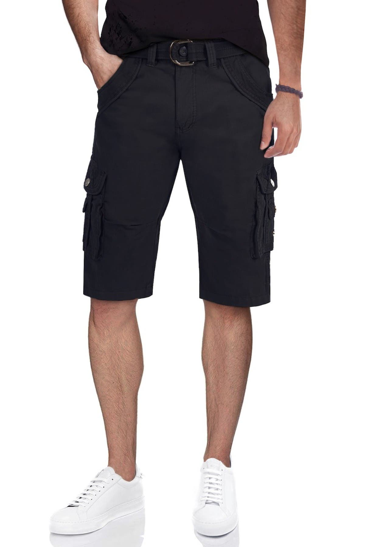 Image of XRAY Belted Double Pocket Cargo Shorts