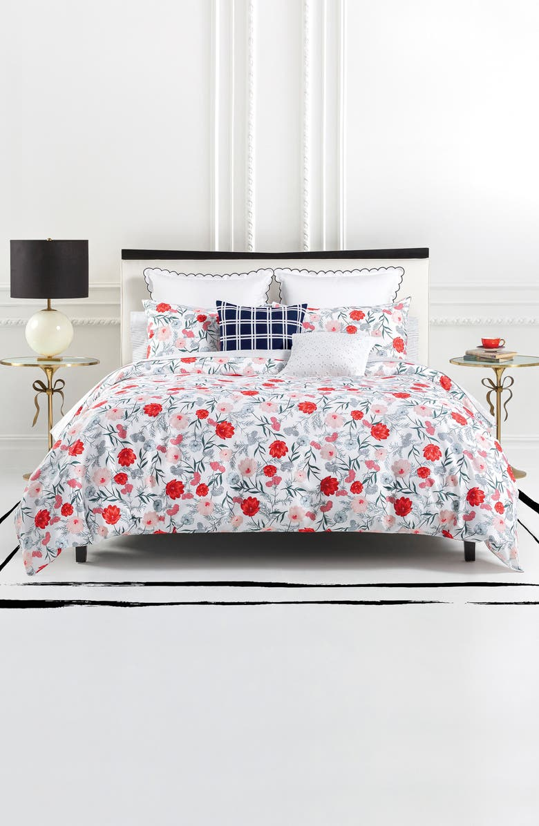 KATE SPADE NEW YORK blossom comforter & sham set, Main, color, MULTI