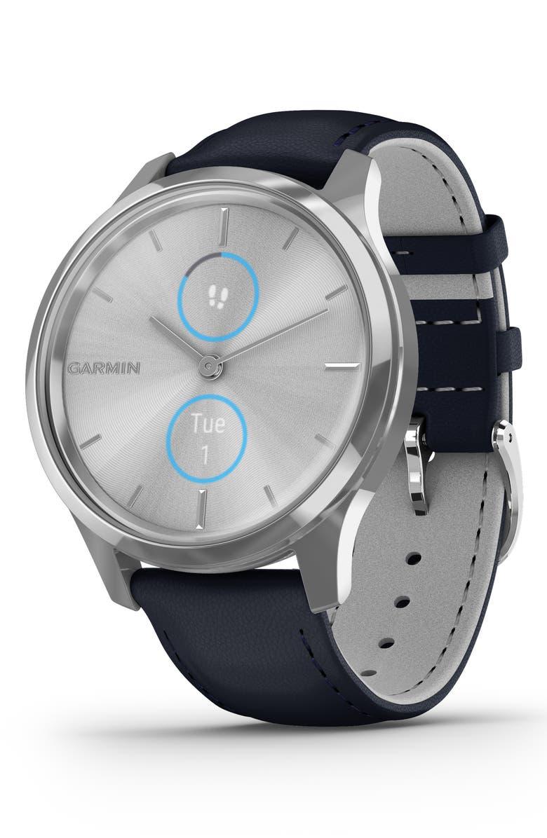 GARMIN vívomove<sup>®</sup> Luxe Hybrid Smartwatch, 42mm, Main, color, 400