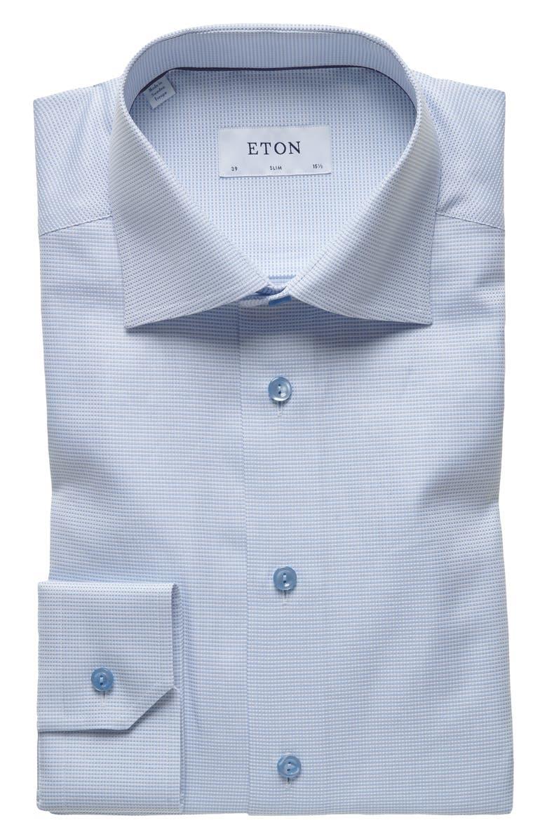 ETON Slim Fit Solid Dress Shirt, Main, color, 400
