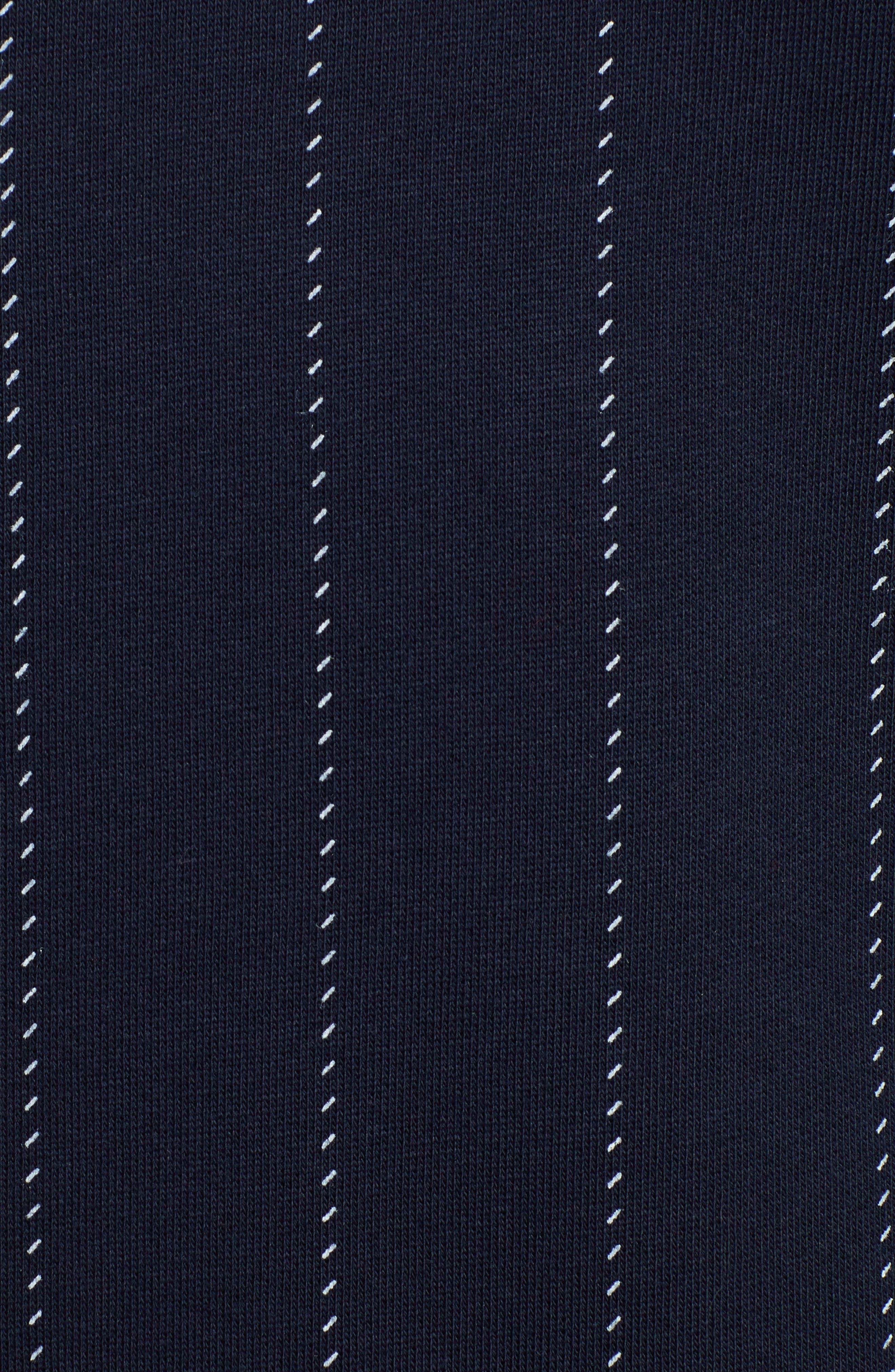 ,                             Baseball Pinstripe Sweatshirt,                             Alternate thumbnail 6, color,                             INK