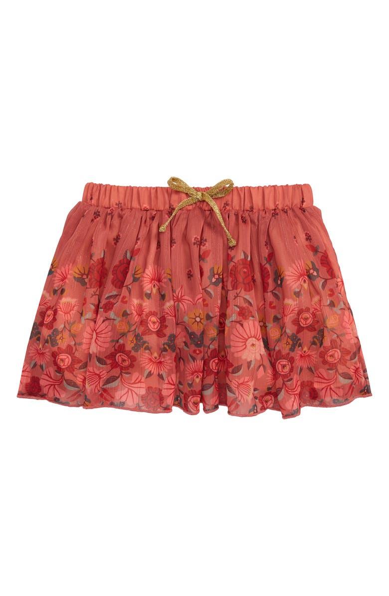 PEEK ESSENTIALS Elisabeth Floral Skirt, Main, color, CORAL