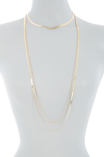 Image of Halogen 3-in-1 Draped Snake Chain Necklace