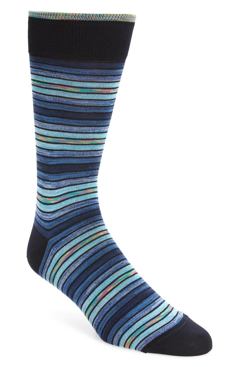 BUGATCHI Stripe Socks, Main, color, 408