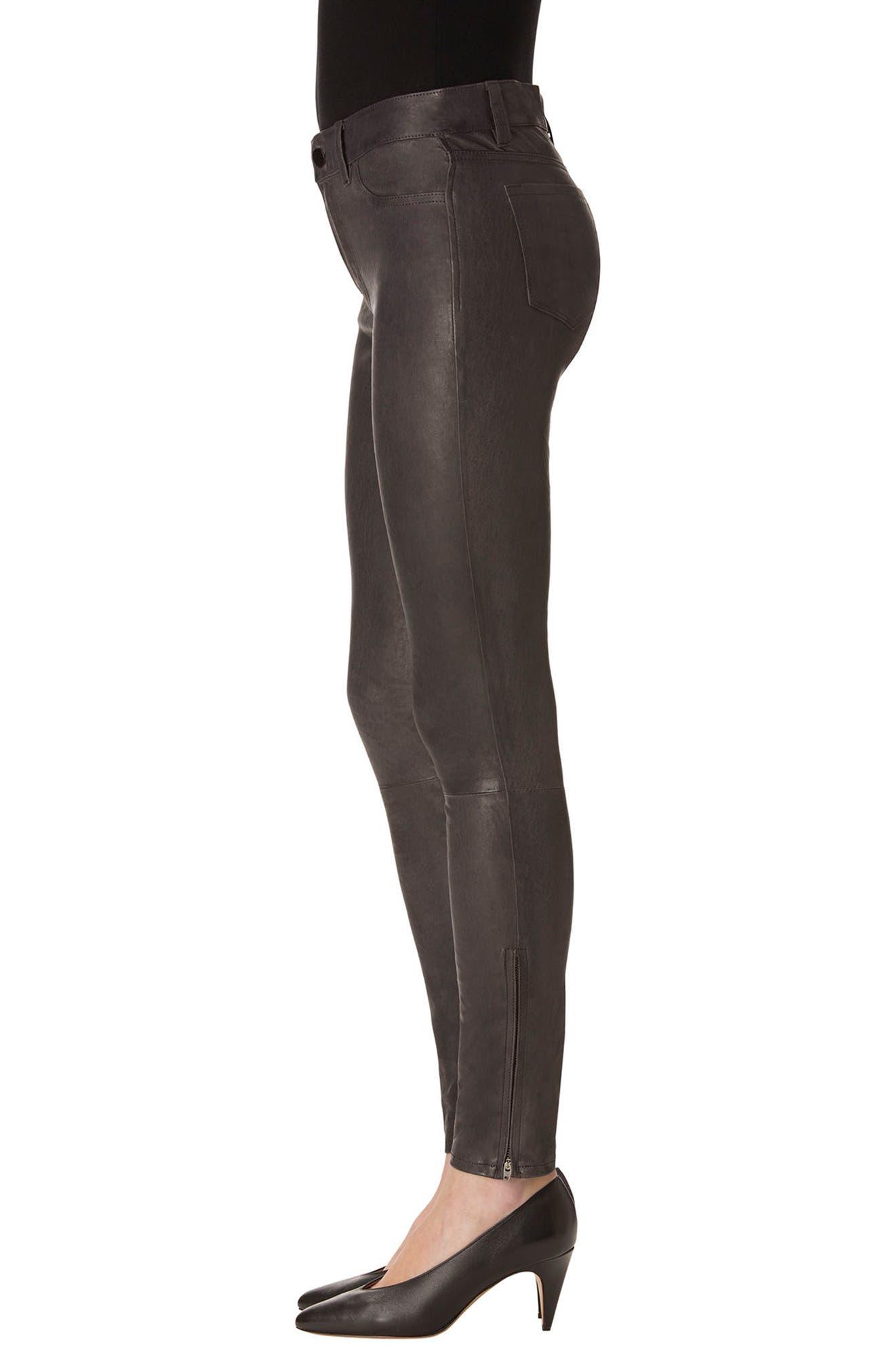 ,                             '8001' Lambskin Leather Pants,                             Alternate thumbnail 24, color,                             039