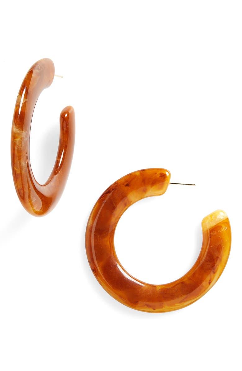 CULT GAIA Kennedy Hoop Earrings, Main, color, 600