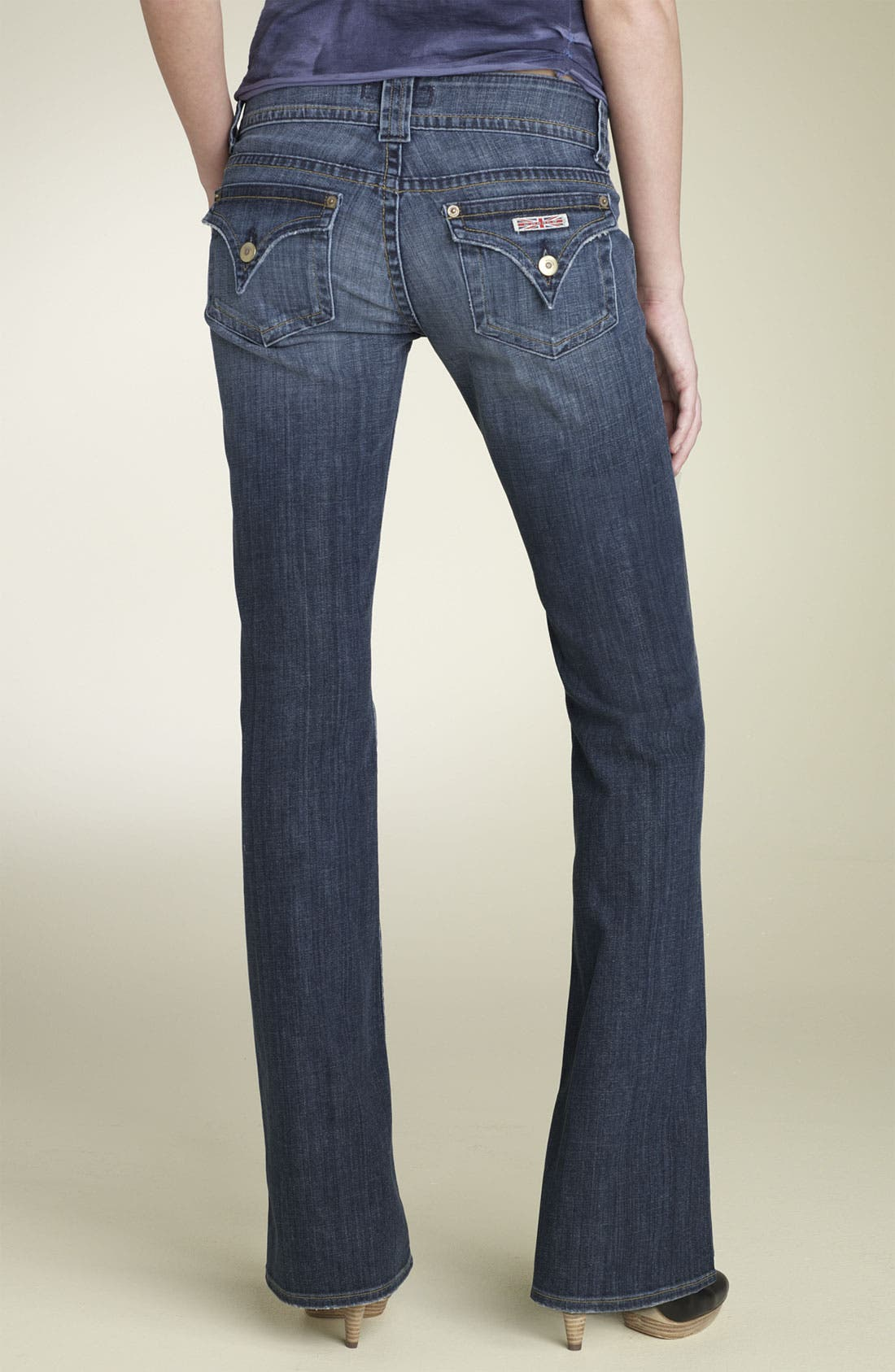 ,                             Signature Flap Pocket Bootcut Jeans,                             Alternate thumbnail 55, color,                             463