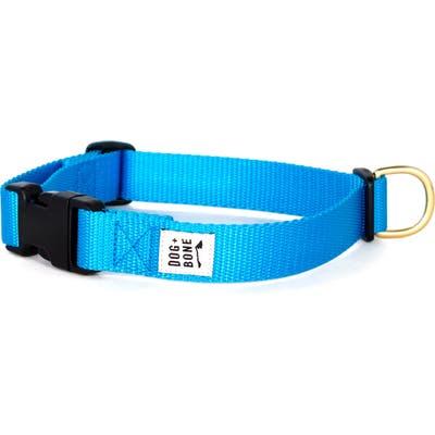 Dog + Bone Snap Collar, Blue