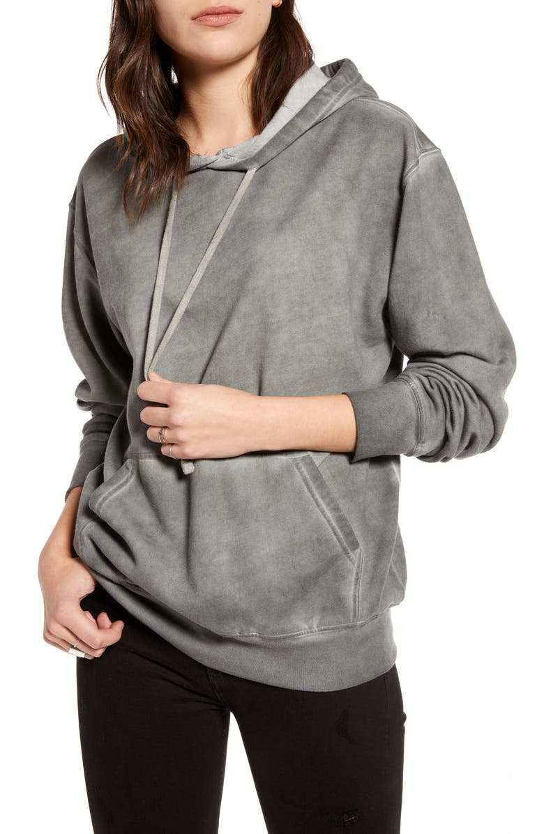 TREASURE & BOND Vintage Wash Hooded Sweatshirt, Main, color, GREY