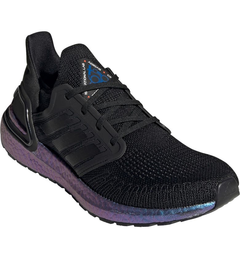 ADIDAS UltraBoost 20 Space Race Running Shoe, Main, color, CORE BLACK/ BOOST BLUE VIOLET