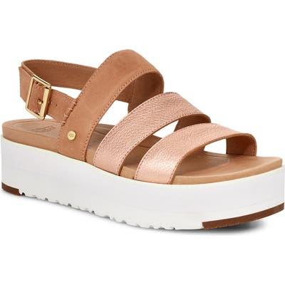 UGG Braelynn Flatform Sandal- Metallic