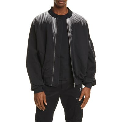 Marcelo Burlon Falls Wings Fleece Bomber Jacket, Black