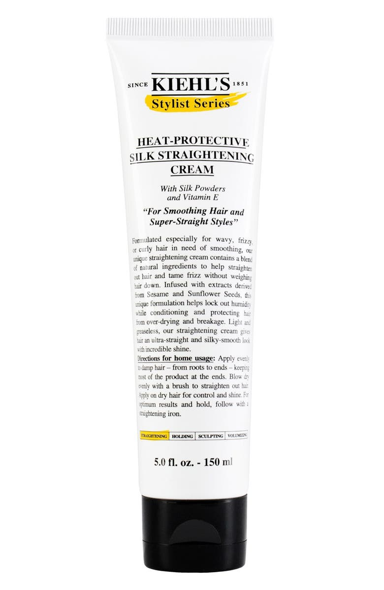 KIEHL'S SINCE 1851 Heat-Protective Silk Straightening Cream, Main, color, 000