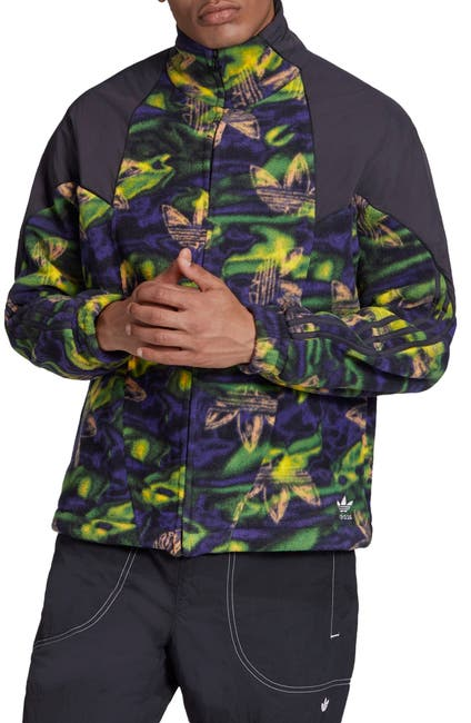 Image of ADIDAS ORIGINALS Big Trefoil Polar Fleece Print Track Top