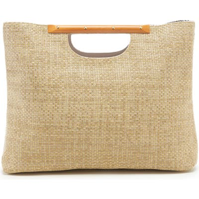 Sole Society Bess Woven Tote - Brown