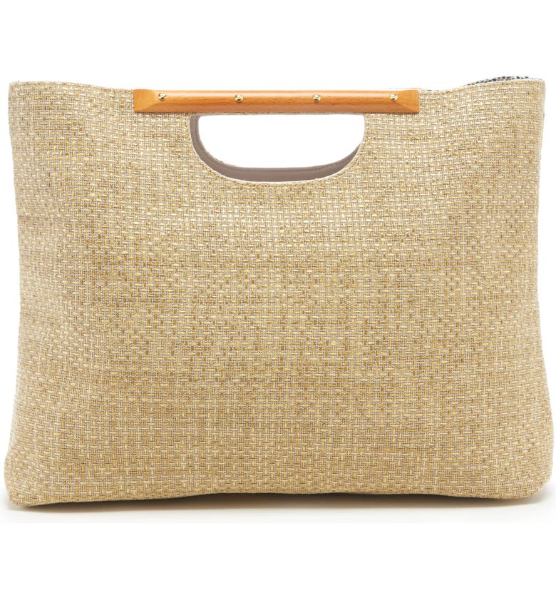 SOLE SOCIETY Bess Woven Tote, Main, color, NATURAL COMBO
