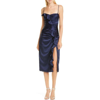 Jonathan Simkhai Ruffle Bustier Dress, Blue