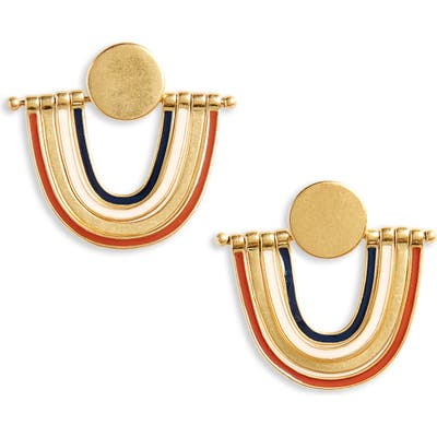 Madewell Enamel Rainbow Earrings
