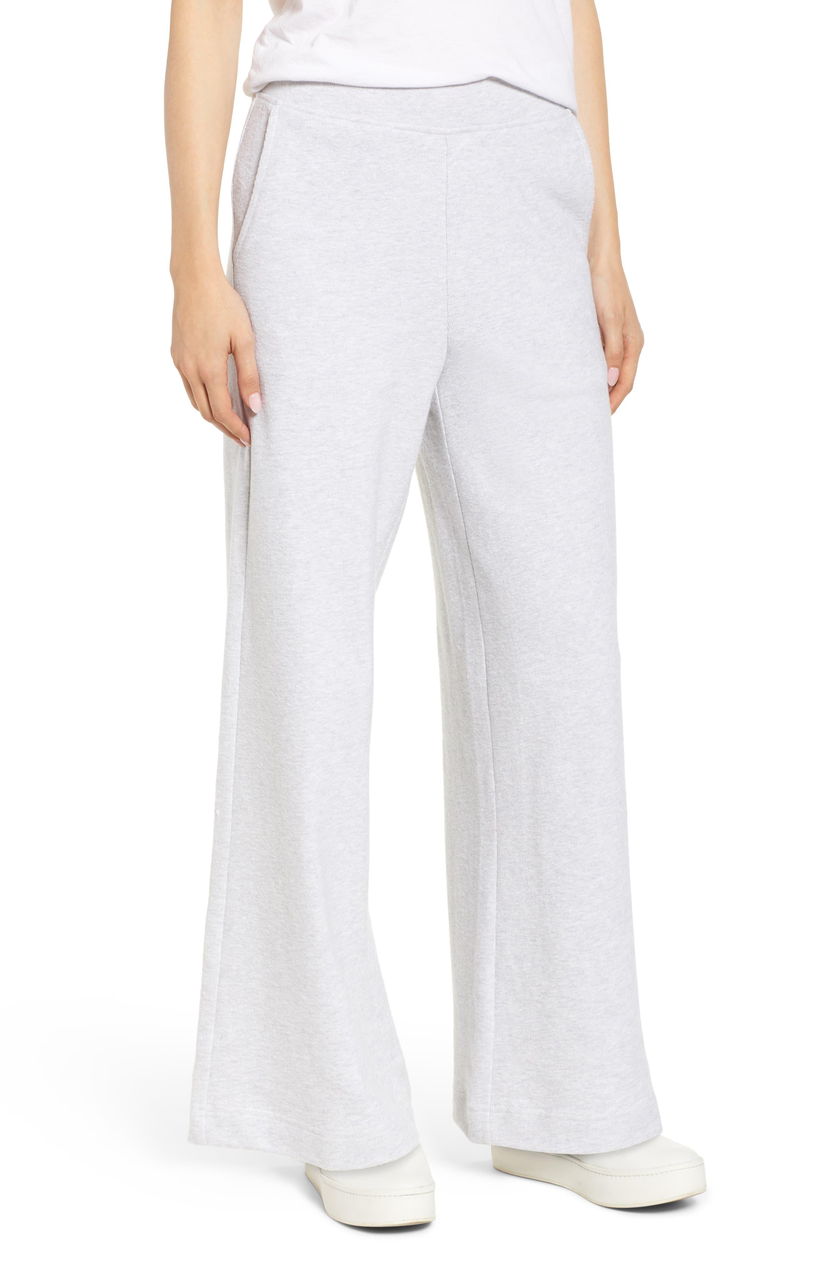 Lou & Grey Conscious Cotton Wide Leg Sweatpants, Grey