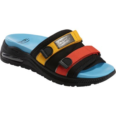 Earth Kamala Slide Sandal- Black
