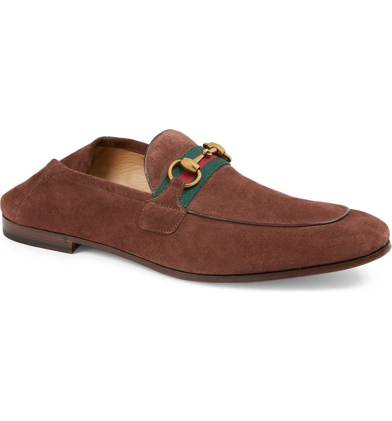 GUCCI Brixton Bit Convertible Loafer, Main, color, LIGHT BROWN/ BROWN