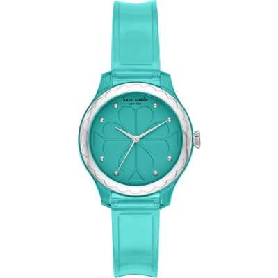 Kate Spade New York Rosebank Transparent Strap Watch, 32mm