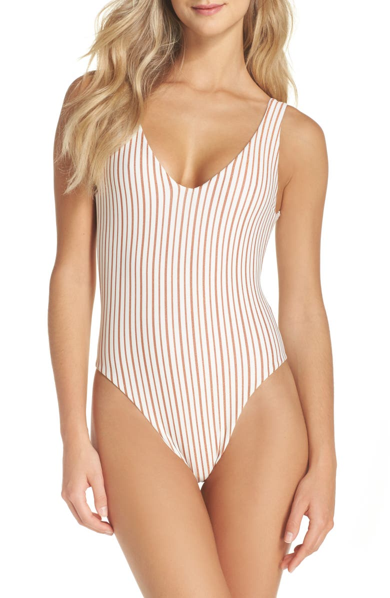 L SPACE Arizona Reversible One-Piece Swimsuit, Main, color, 100