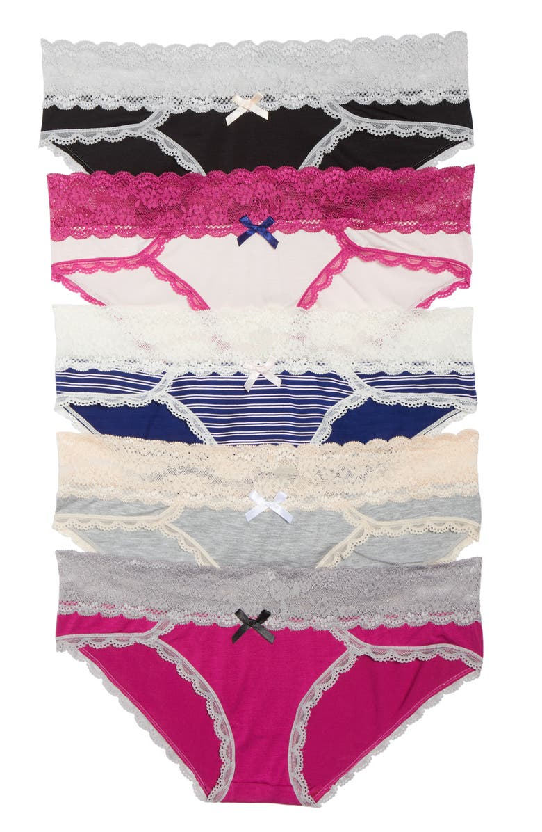 161bdc811613 Honeydew Intimates Ahna 5-Pack Hipster Panties | Nordstrom