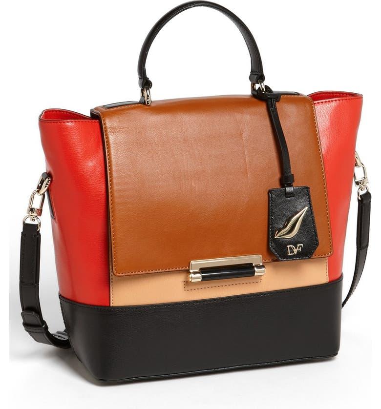 DIANE VON FURSTENBERG '440 - Small' Leather Satchel, Main, color, 250