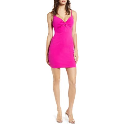 Love, Nickie Lew Knot Front Body-Con Dress, Pink