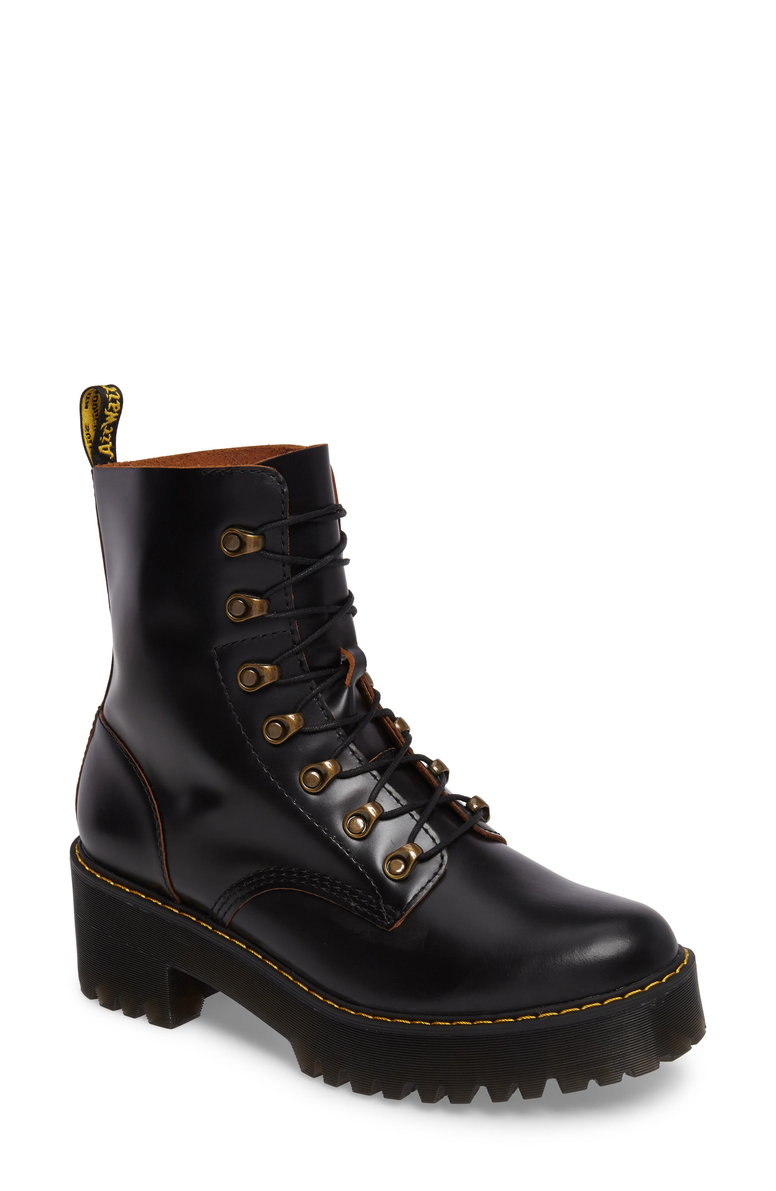 ,                             Leona Heeled Boot,                             Main thumbnail 1, color,                             001