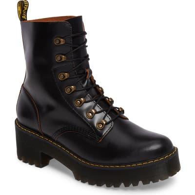 Dr. Martens Leona Heeled Boot, Black