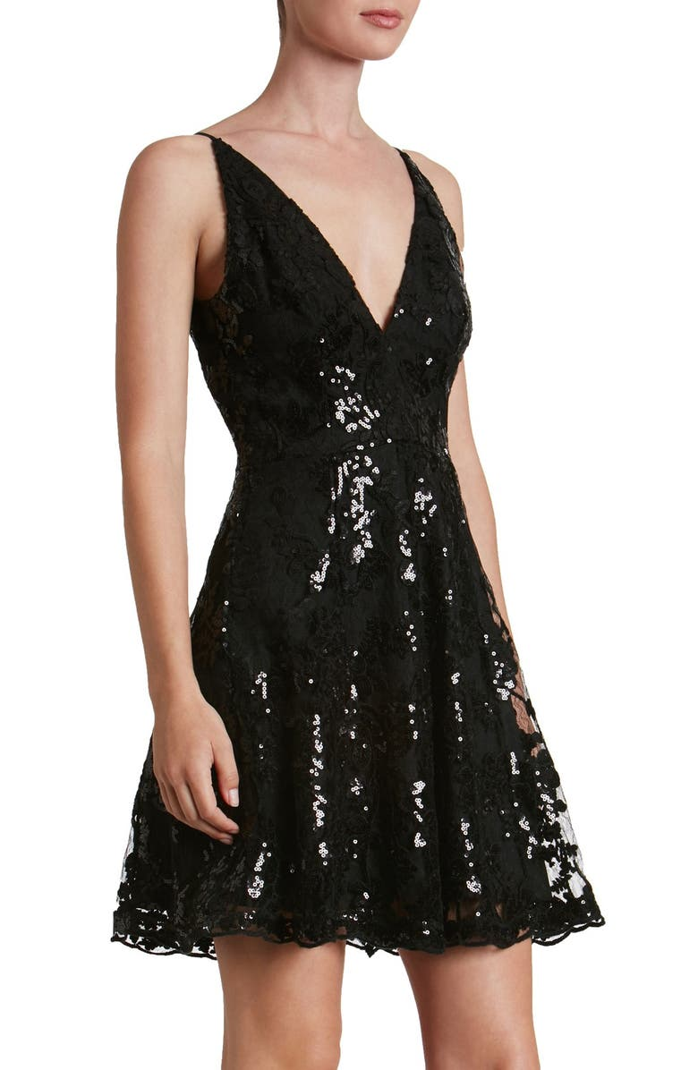 80f72206 Dress the Population 'Morgan' Sequin Lace Fit & Flare Dress | Nordstrom
