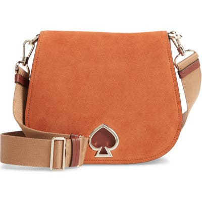 Kate Spade New York Large Suzy Suede & Leather Saddle Bag - Brown