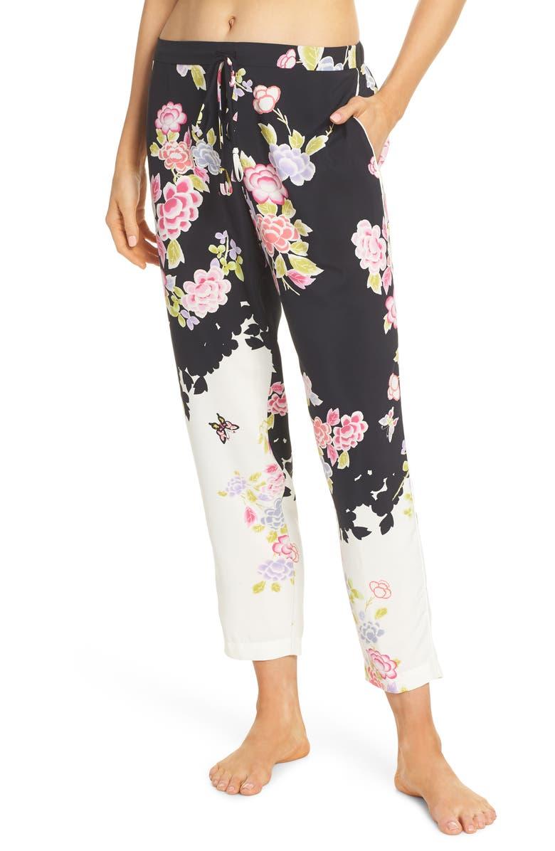NATORI Gardenia Pajama Pants, Main, color, 001