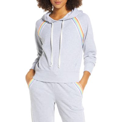 Soul By Soulcycle Rainbow Inset Hoodie, Grey