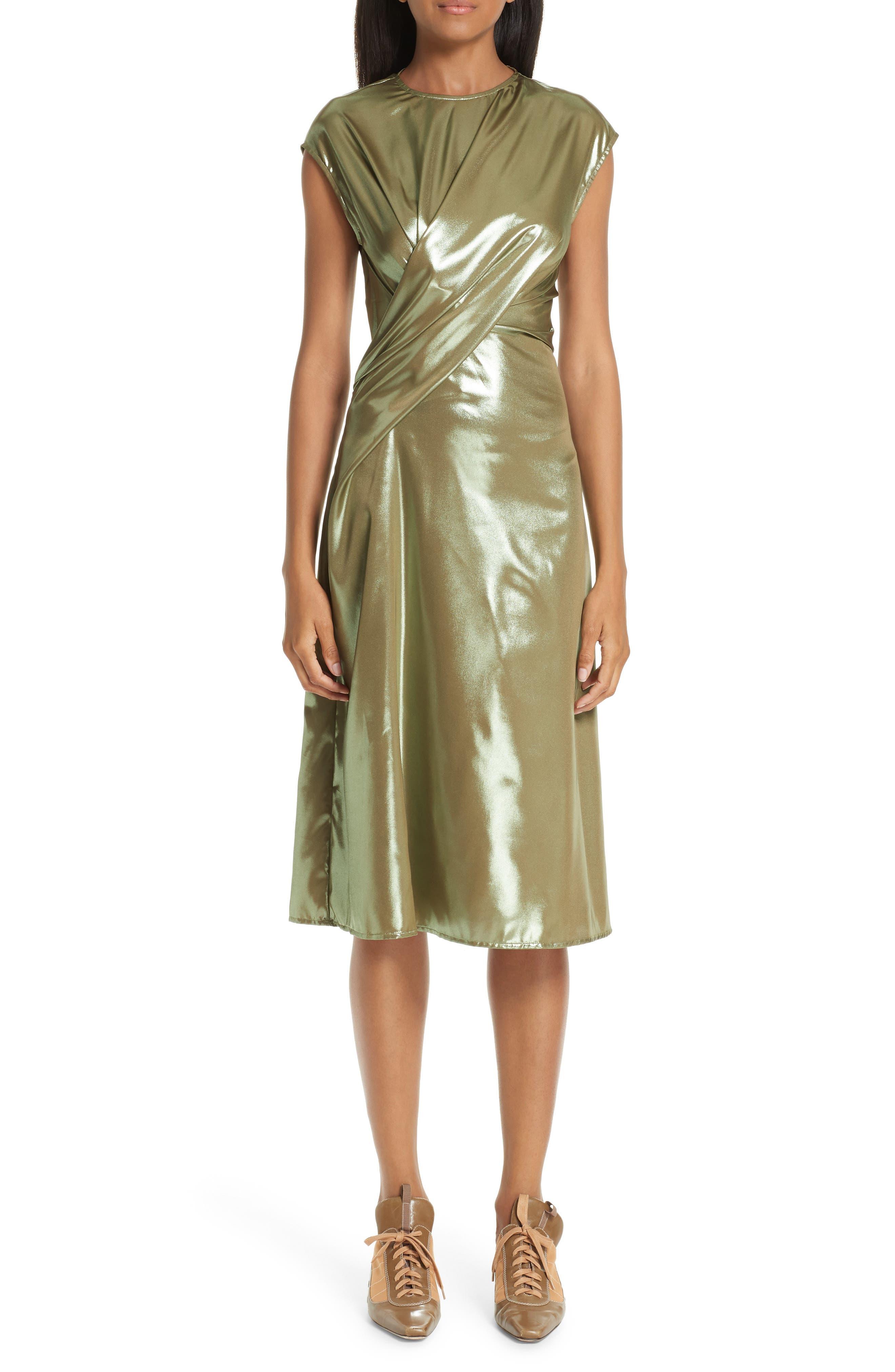 Sies Marjan Edie Laminated Midi Dress