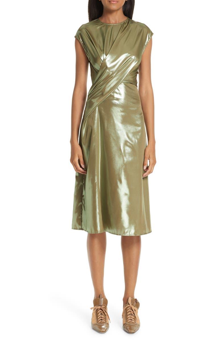 SIES MARJAN Edie Laminated Midi Dress, Main, color, 300