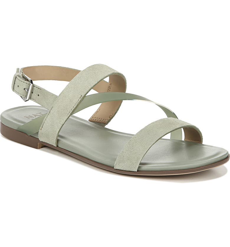 NATURALIZER Tru Sandal, Main, color, LIGHT GREEN LEATHER