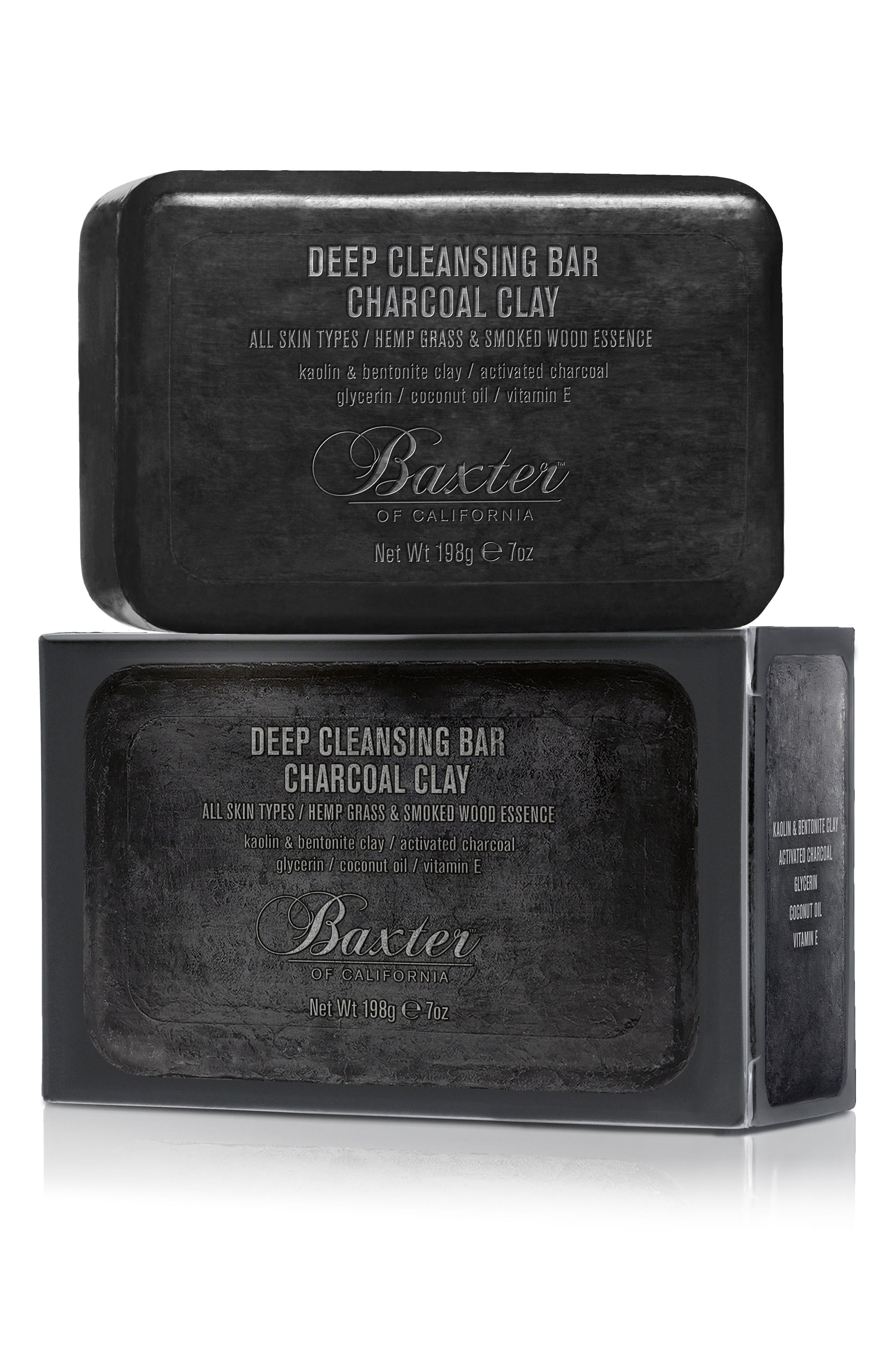 Deep Cleansing Charcoal Clay Bar Soap, Main, color, NO COLOR