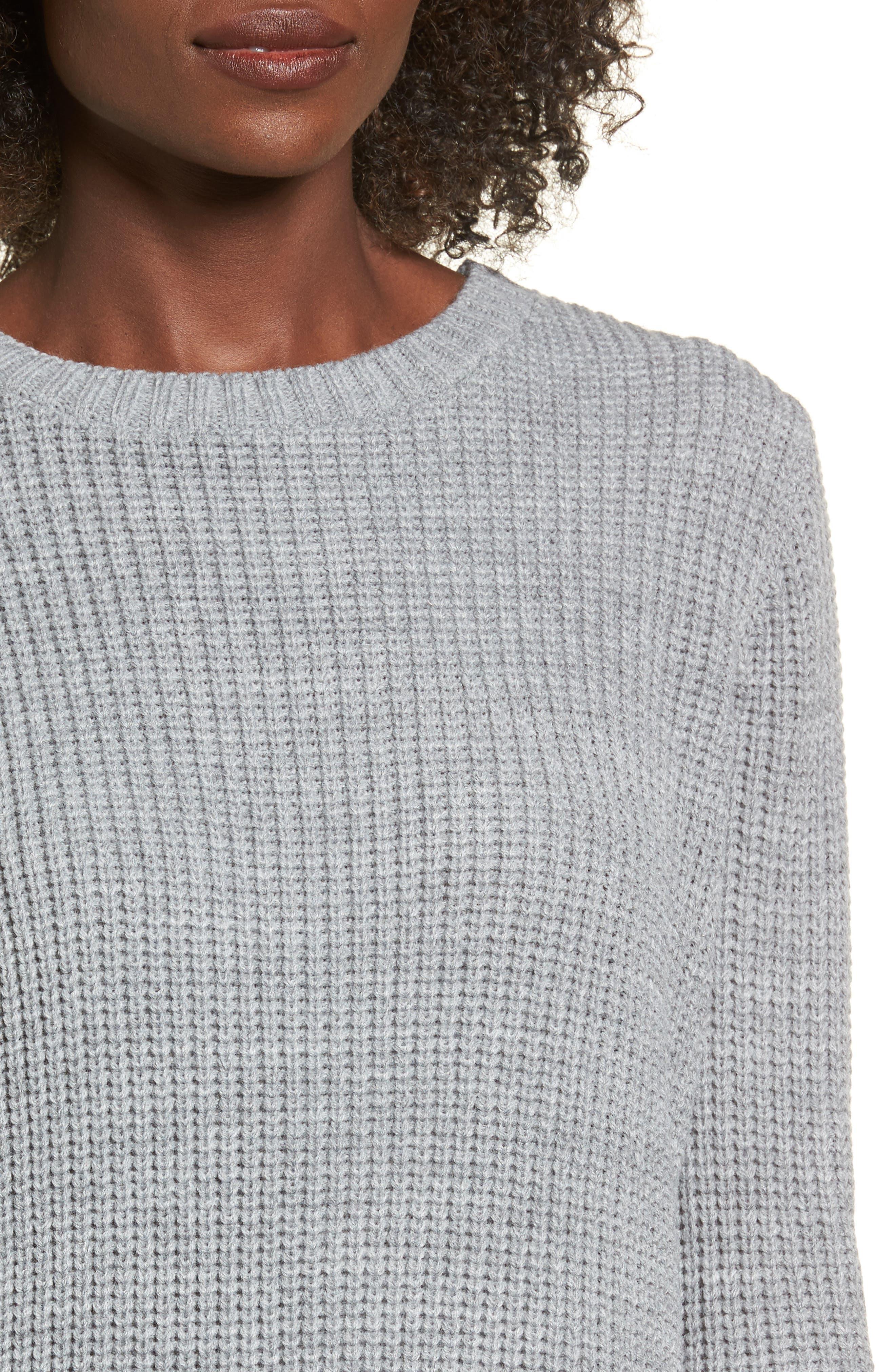 ,                             Flared Sleeve Sweater Dress,                             Alternate thumbnail 4, color,                             020