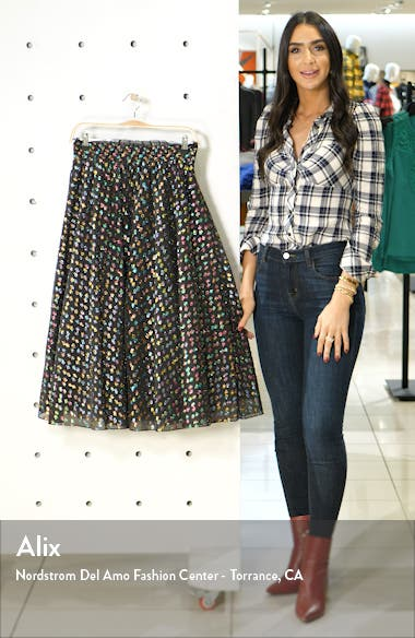 x Atlantic-Pacific Rainbow Dot Full Skirt, sales video thumbnail