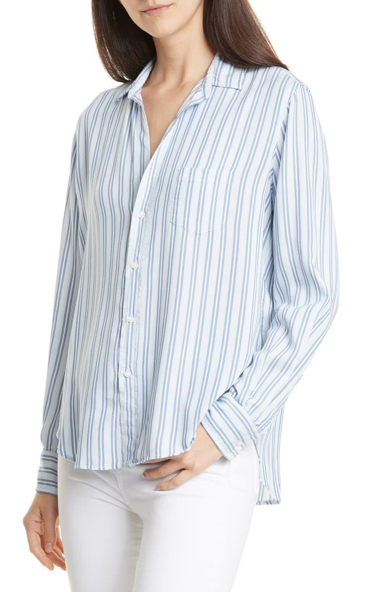 FRANK & EILEEN Eileen Fluid Modal Shirt, Main, color, MENS MULTI-BLUE STRIPE