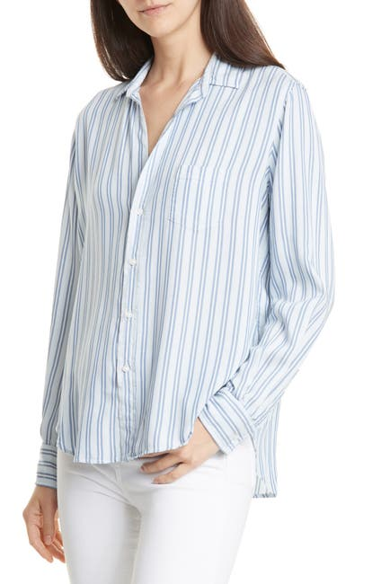 Image of FRANK & EILEEN Fluid Striped Collared Shirt