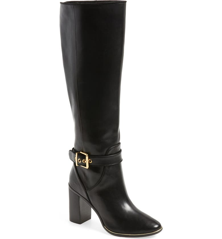 TED BAKER LONDON 'Niida' Knee High Ankle Strap Boot, Main, color, 001