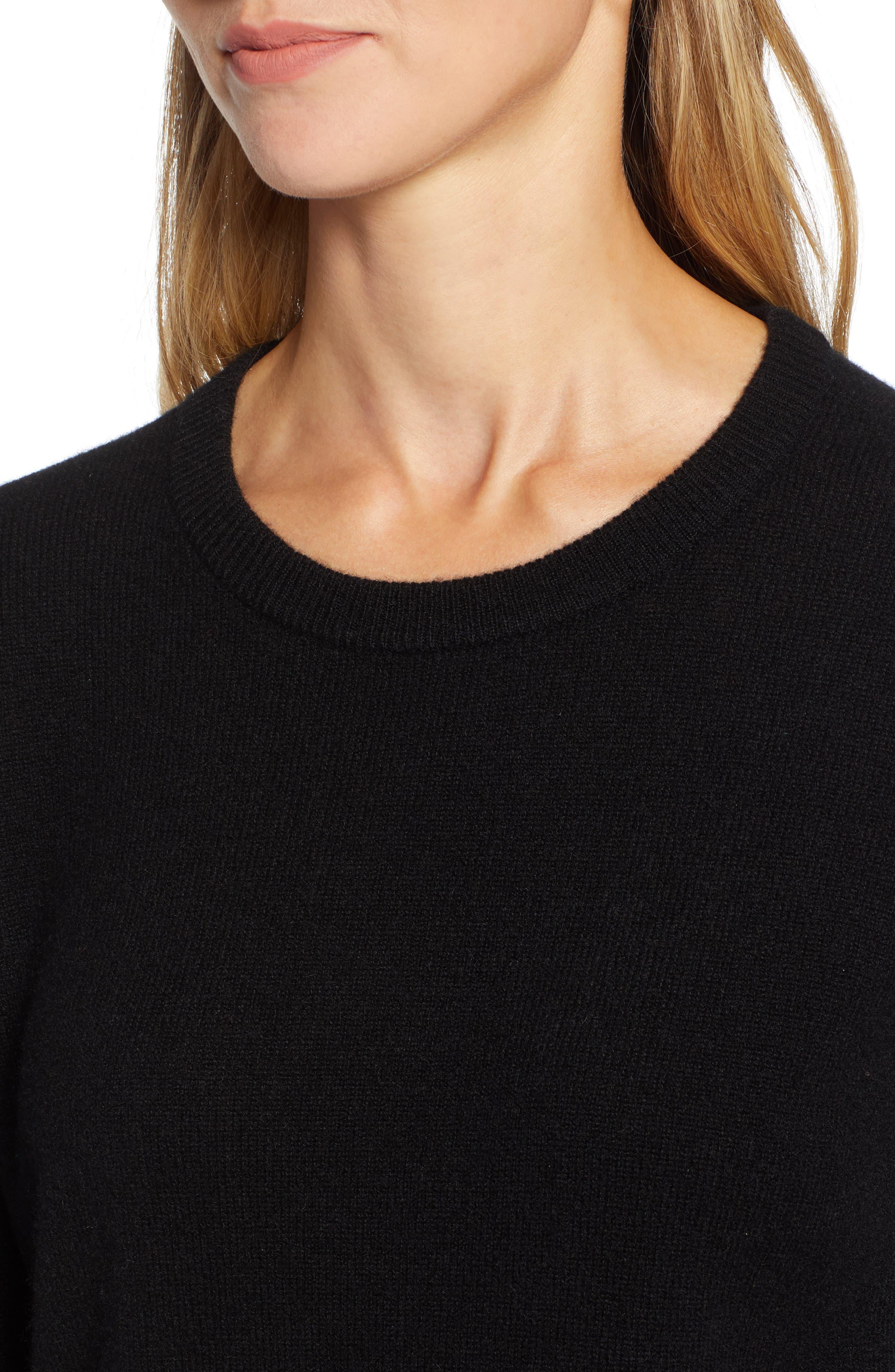 ,                             Crewneck Cashmere Sweater,                             Alternate thumbnail 244, color,                             001