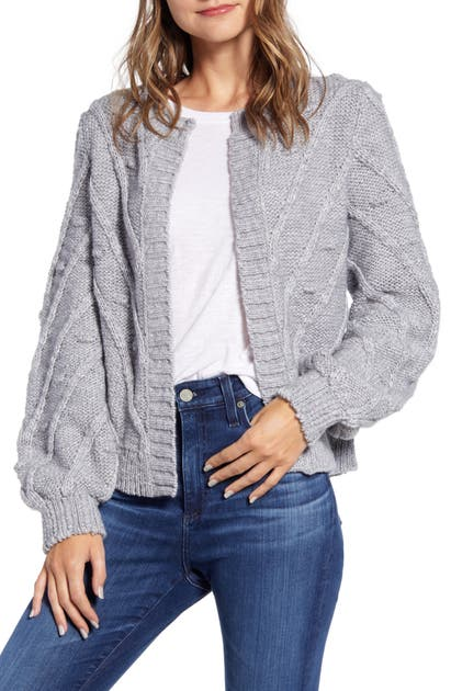 Lucky Brand Knits BOBBLE & CABLE KNIT CARDIGAN